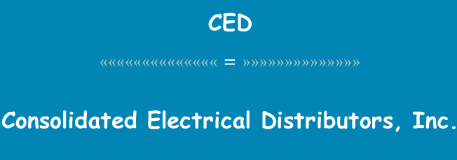 Consolidated Electrical Distributors Inc